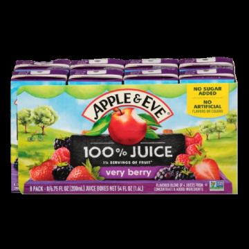 100% Juice- Very Berry Apple & Eve, 8 x 200 ml