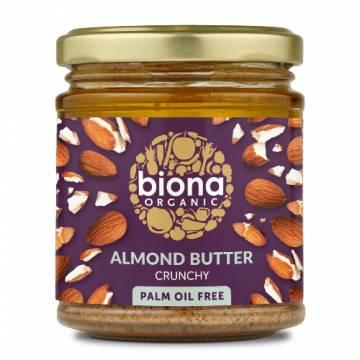 Biona Organic Almond Butter Crunchy, 170g