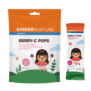 Berry-C Pops - 6 lollipops KinderNurture, 48g