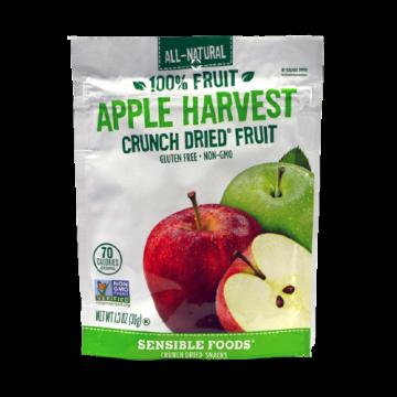 All-Natural 100% Fruit Apple Harvest Crunch Dried Fruit Sensible Foods, 9g