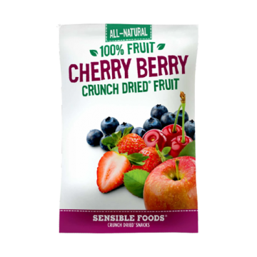 All-Natural 100% Fruit Cherry Berry Crunch Dried Fruit Sensible Foods, 10g
