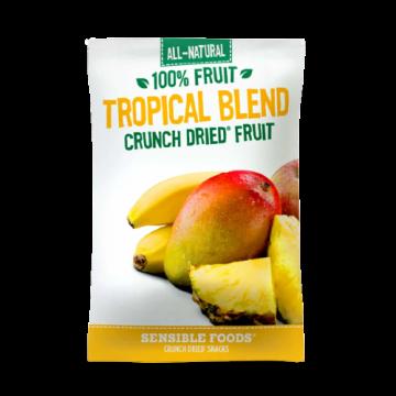 All-Natural 100% Fruit Tropical Blend Crunch Dried Fruit Sensible Foods, 9g